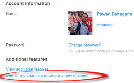 Youtube Google Plus create new channel