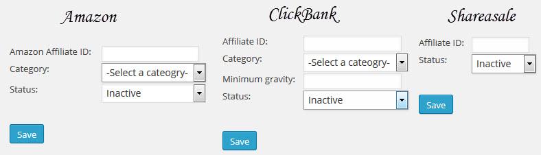 WP auto affiliate links setting