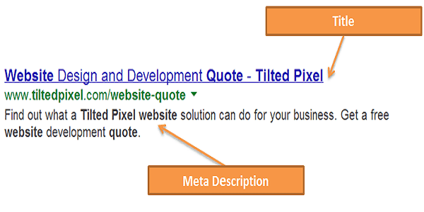 Title Tags and Meta Descriptions
