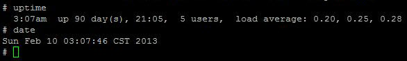 uptime and date command unix