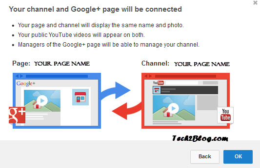 YouTube Channel and Google plus connect