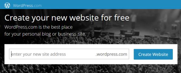 Wordpress.com free website making platform