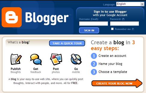 blogger.com free website platform