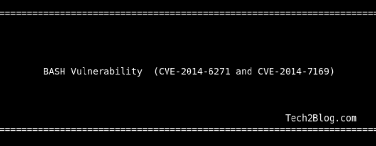 Bash Vulnerability