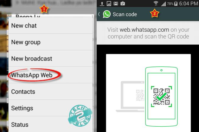 use whatsapp web QR scanner 2