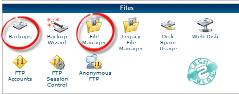 Control panel file manager
