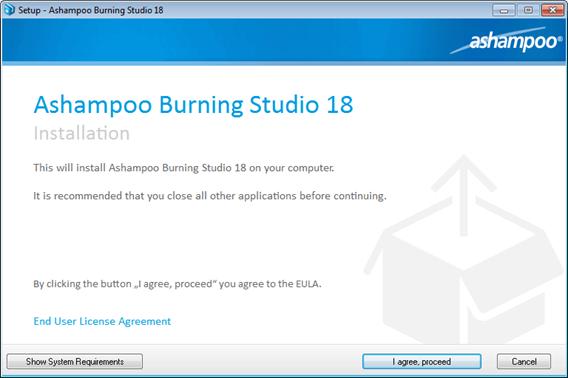 Ashampoo Burning Studio 18 Installation