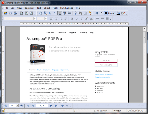 Ashampoo PDF Pro Easily Create - Edit PDF