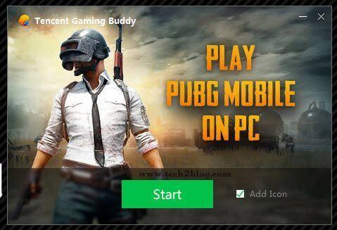 PUBG mobile Start on PC