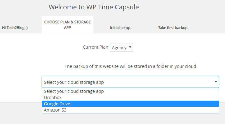 WP Time Capsule Cloud Provider