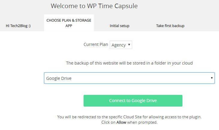 WP Time Capsule Google Cloud Backup