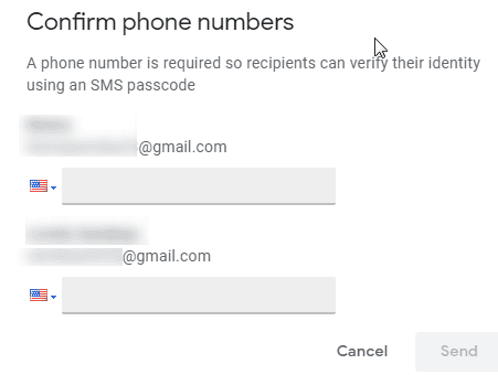 Confidential Mode - Passcode