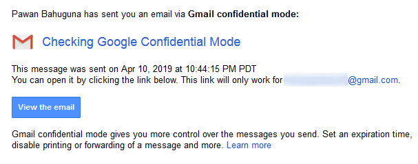 Confidential mode Cannot Print Forward