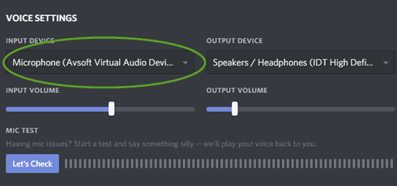 Voice Changer Setting Discord