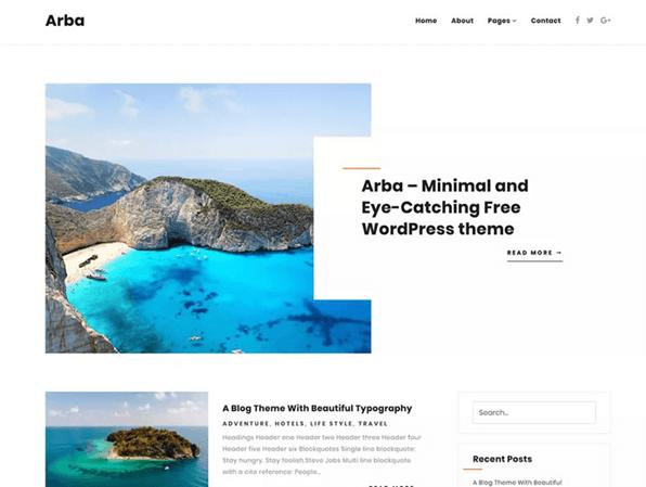 Arba - Minimal Blogging Theme