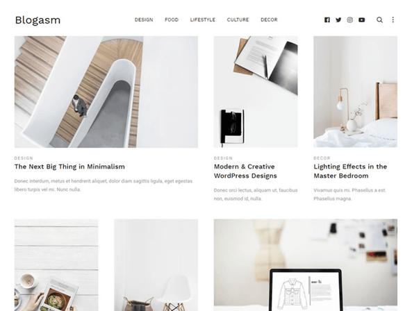 Blogasm – Minimal Blog Theme