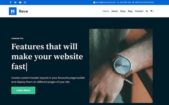 Neve - Minimalist WordPress theme