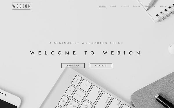 Webion - Minmalist WordPress Theme